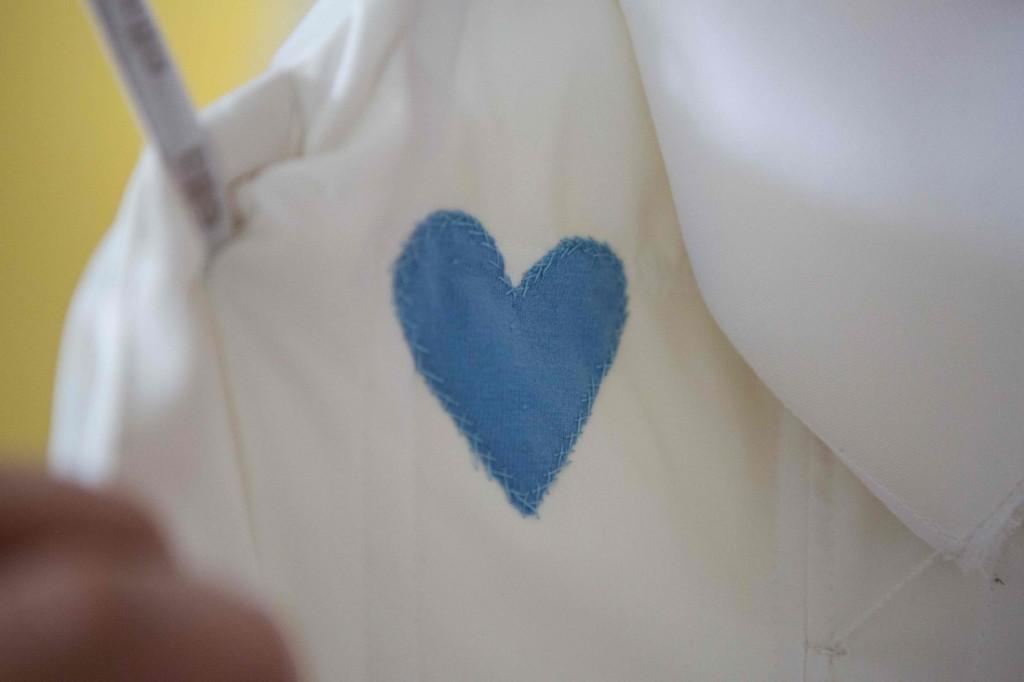 Heart Sewn Into Wedding Dress
