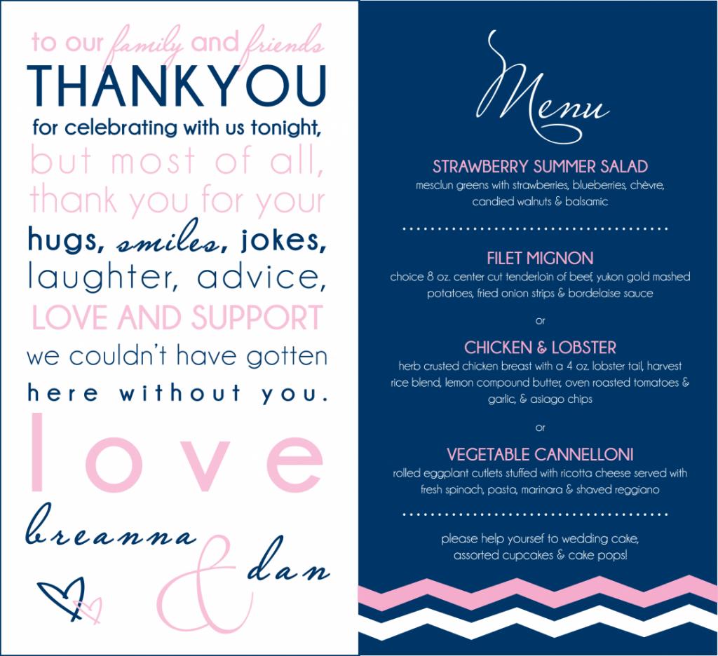 Navy and Pink Wedding Invitations