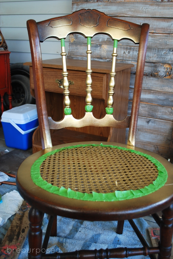 Mint Chair with Gold Wax