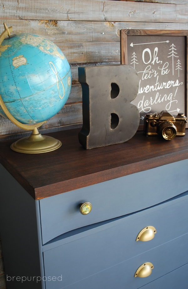 Mid Century Modern Dresser painted in Country Chic Hurricane