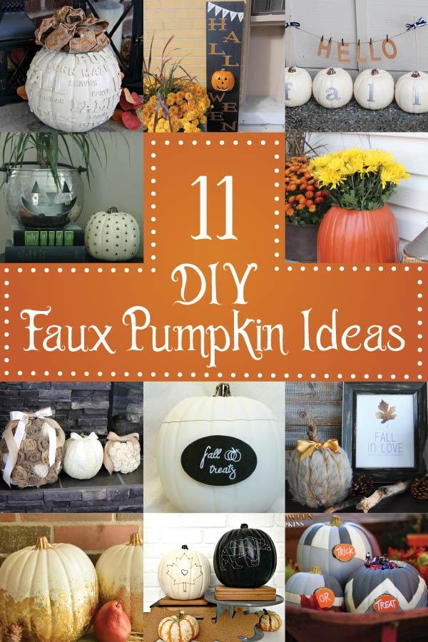 11 DIY Faux Pumpkin Ideas
