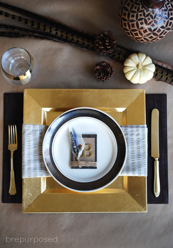 DIY Rustic Place Setting