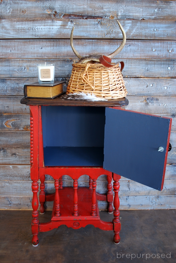 Antique Humidor Table Makeover