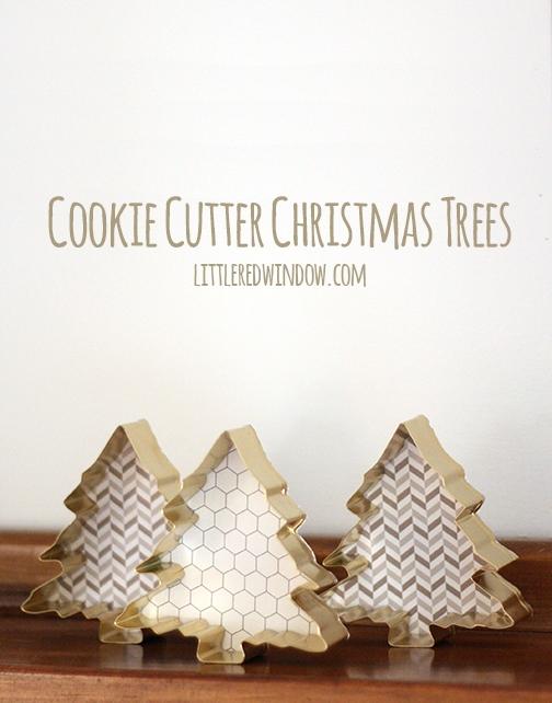 Cookie Cutter Christmas Trees - littleredwindow