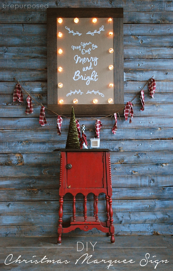 DIY Christmas Marquee Sign