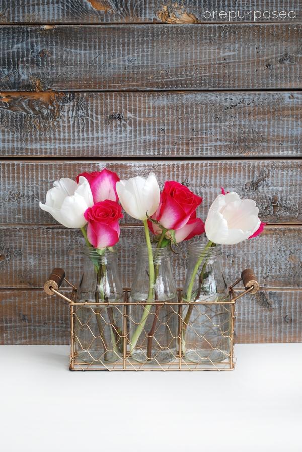 Simple Valentine's Day Centerpiece