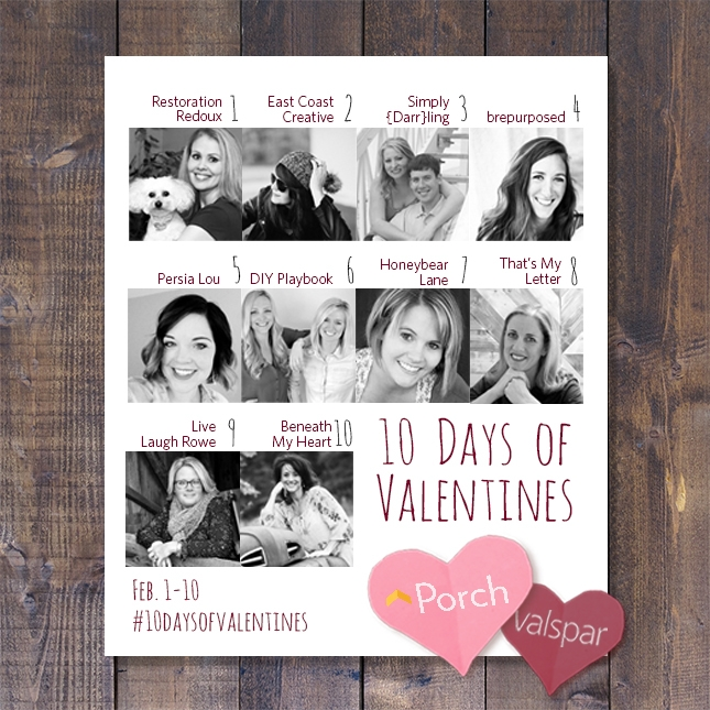 10 Days of Valentines with Porch and Valspar