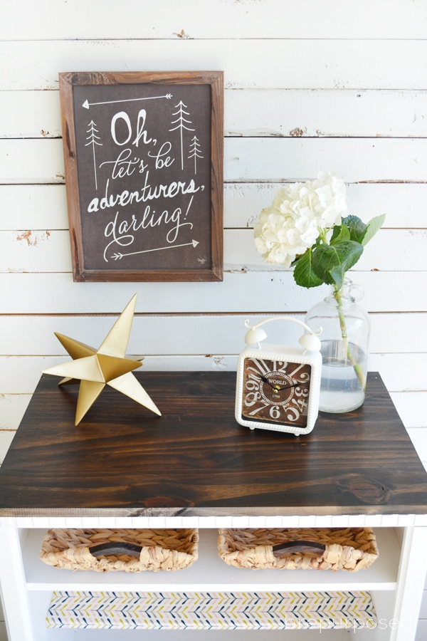 Rustic Rolling Cabinet Makeover