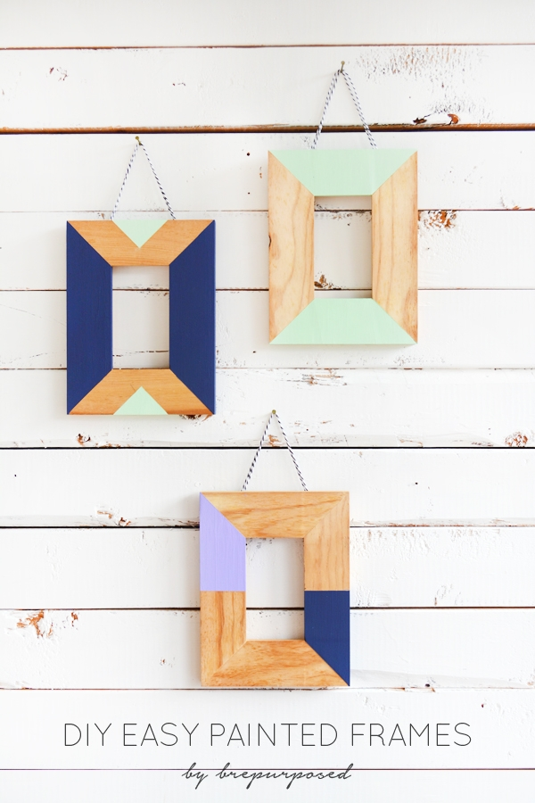 DIY Easy Painted Frames