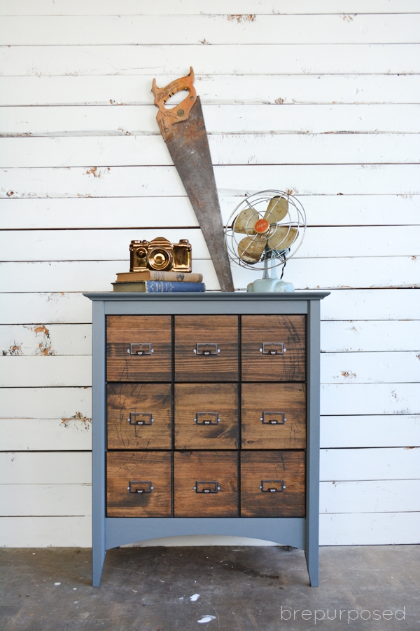 Faux Card Catalog Makeover