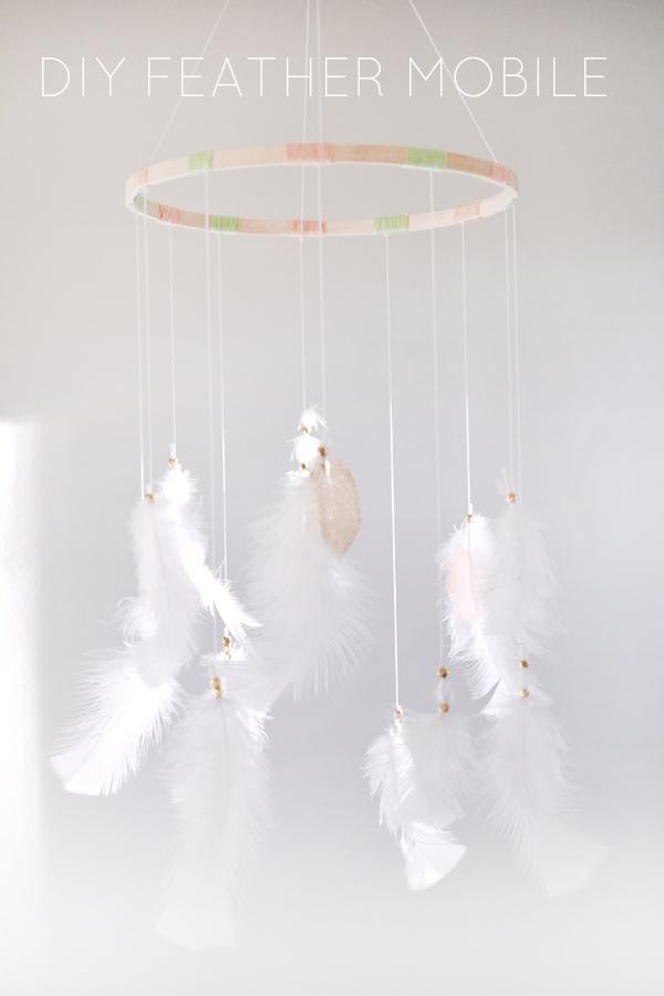 Diy Feather Mobile Brepurposed