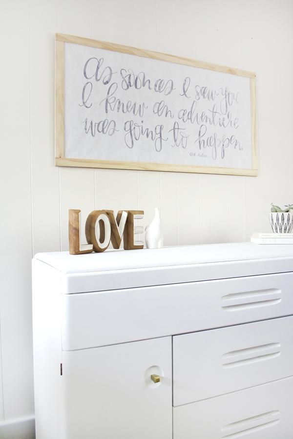 DIY Changing Table Makeover