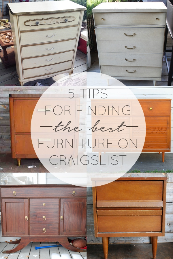 15 Tips for Finding the Best Furniture on Craigslist  brepurposed