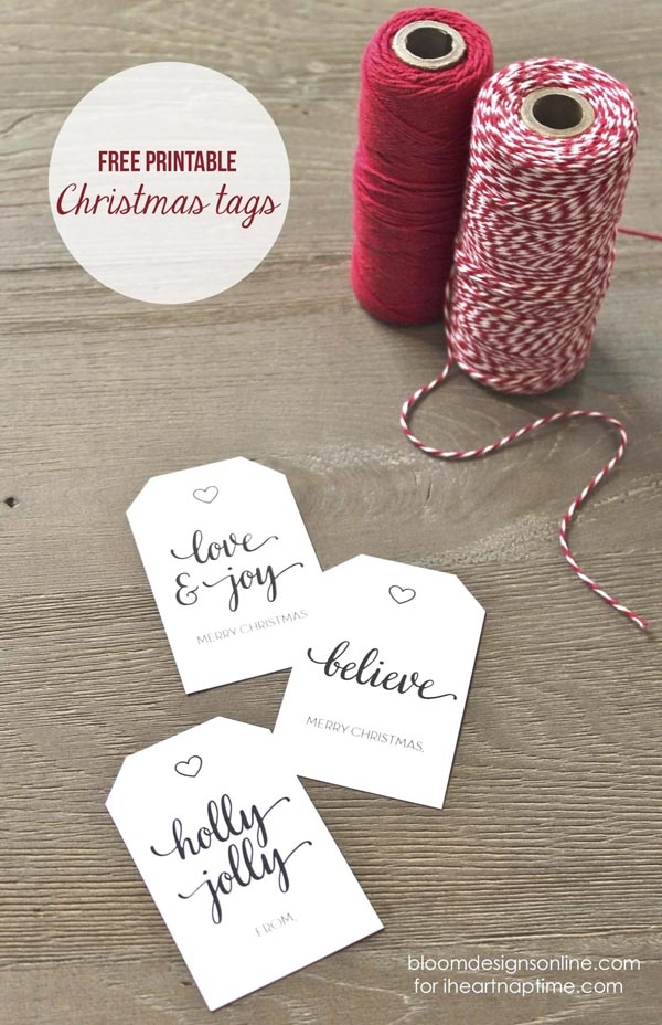 10 Free Holiday Printable Gift Tags